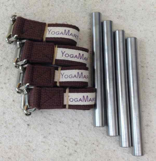 Yoga Knee Staps & Stainless Steel Knee Rods